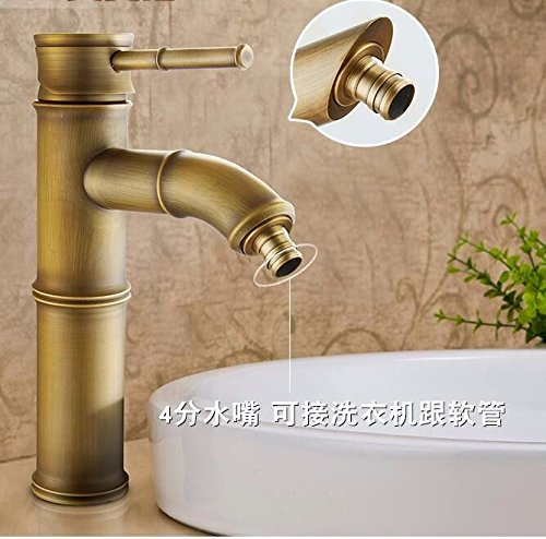 T Gyps Faucet Basin Mixer Tap Waterfall Faucet Antique Bathroom Mixer Bar Mixer Shower Set Tap antique bathroom faucet Antique basin faucet antique solid brass basin faucet classic bamboo art basin cold