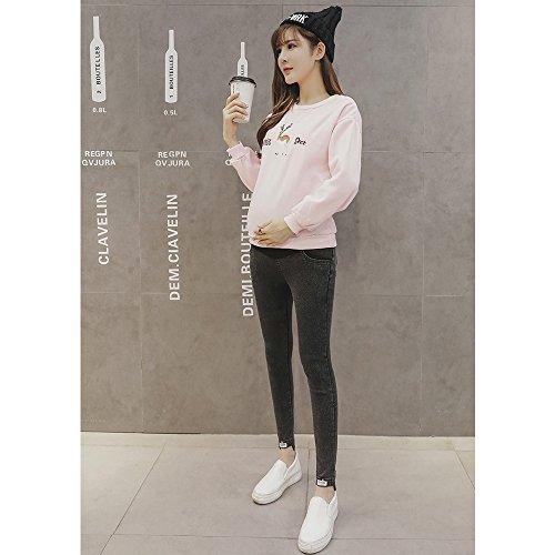 U Sostegno da Donna Incinta Attillata Nuovo Nero ZEVONDA Gamba Jeans Gambali di tipo stile Vita Addominali a alta con di a Pieno wqfRp