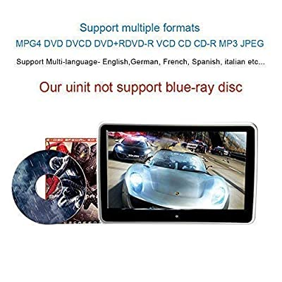 10.1 Inch HD Digital Multimedia  Monitor Super-thin Car Headrest Dvd Player With Ir headphone and HDMI Port and Remote Control USB And SD: Car Electronics