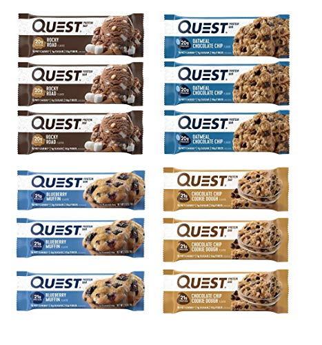 Quest Nutrition Protein Bar America Variety Pack. Low Carb Meal Replacement Bar w/ 20g+ Protein. High Fiber, Soy-Free, Gluten-Free (12 Count)