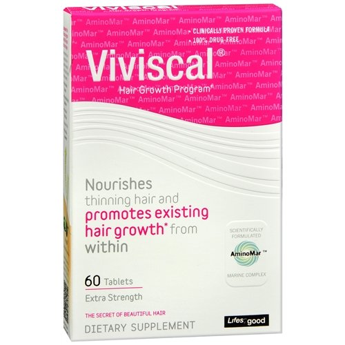 Viviscal Hair Growth Program, Extra Strength, Tablets 60 Pack of (3) by Viviscal