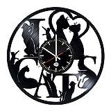 Unique Cat Design handmade vinyl record wall clock – Best gift Review