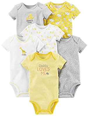 Simple Joys by Carter's Baby 6-Pack Short-Sleeve Bodysuit by Simple Joys by Carter's that we recomend individually.