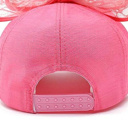 1adfa981b0945 Queta Bonnet pour Enfant, Style coréen avec M Lettre Papillon Kontted Filet  Casquette de Baseball Parasol pour Les Petites Filles Blanc: Amazon.fr: ...