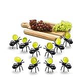 Opaceluuk Ants Food Picks, 2 Dozen Fruit/Dessert Toothpick for Party & Kids