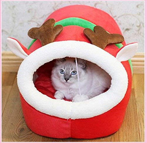IANXI Home Cat Sleeping Sleeping Bag Pet Bed Woven Mat Kennel Washable Cat Products, Deer M for Cat Dog