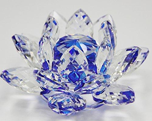 Amazoncom Crystal Sparkle Crystal Lotus Flower Feng Shui Home