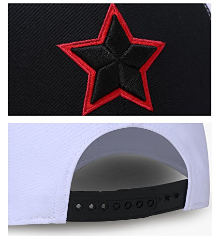 béisbol Black Talla para Red MENGMA Multicolor Gorra Hombre White única and de qOnAEU