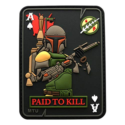 Miltacusa Boba Fett Dead Card Tactical Patch (3D PVC Rubber-Z4)
