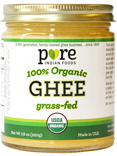 Grassfed Organic Ghee 7.8 Oz - Pure Indian Foods(R) Brand