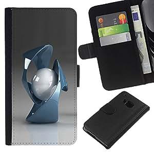 BearCase / Cuero de la tarjeta la carpeta del tirón Smartphone Slots Protección Holder /// HTC One M9 /// Formas abstractas
