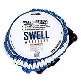 """SWELL Wakesurf 25' Premium Braided Rope with 10"""" Handle - Wake Surfing Rope"""