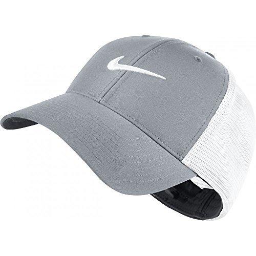 Nike Golf 2016 Legacy 91 Tour Mesh Hat Stretch Fit Men's Golf Cap Wolf Grey/White Medium/Large (Good Trucker Hat)
