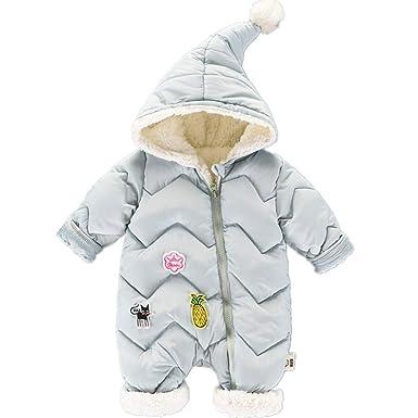 6cc5d9bbd759 Amazon.com  RACHAPE Unisex Baby Hooded Puffer Jacket Infant Jumpsuit ...