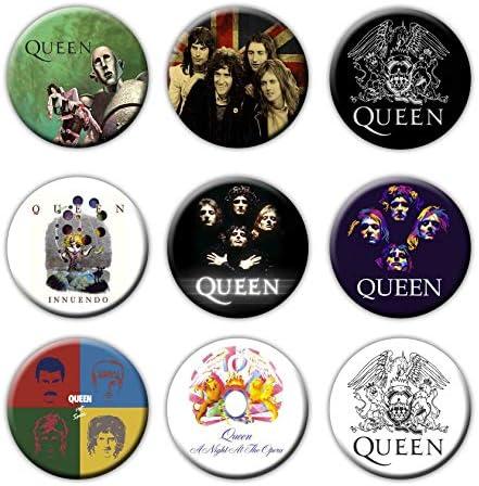 9個セット!レア缶バッジクイーン☆QUEEN/ボヘミアン・ラプソディ/Bohemian Rhapsody/フレディ・マーキュリー/Rock Band/ロックバンド/tin badge/button/pin (1) [並行輸入品]