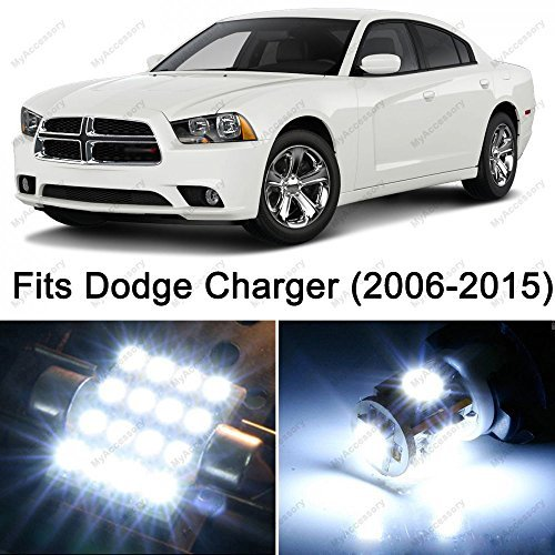19 x Premium Xenon White LED Lights Interior Package Upgrade for Dodge Charger (2006-2016) Xenon Dodge Charger