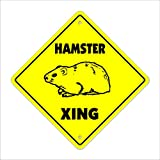 """Hamster Crossing Sign Zone Xing 