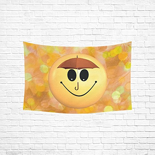 TIANYUSS Tapestry Bokeh Autumn Smilie Joy Smile Happy Emoticon Hippie Tapestries Wall Hanging Flower Tapestry Wall Hanging Dorm Decor For Living Room Bedroom 60 X 40 Inch