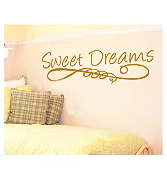 Homemay Pvc Wandtattoo Aufkleber Englisch Sweet Dreams Bett Dream