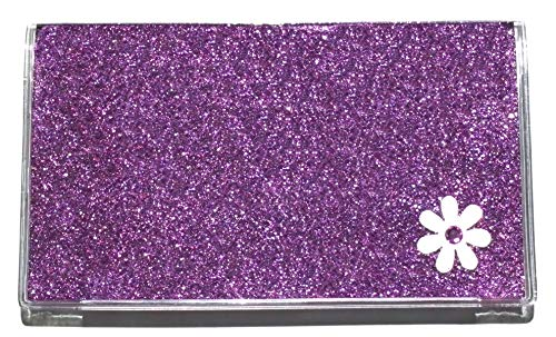 2 Year Pocket Calendar (3 Year 2020 2021 2022 Glitter with Flower Pocket Calendar Planner and Note Pad (Purple)