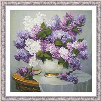Lilac Romance Cross Stitch Chart and Free Embellishment