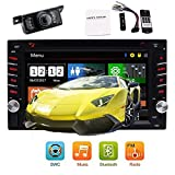 "Cheap Bacup Camera + 6.2""Car Stereo Radio Double 2IN Capacitive Multi-Touch Screen Car DVD Player in-Dash Car Audio AM/FM Autoradio Bluetooth USB SD 1080P Optional UI Automotive + Colorful Button"