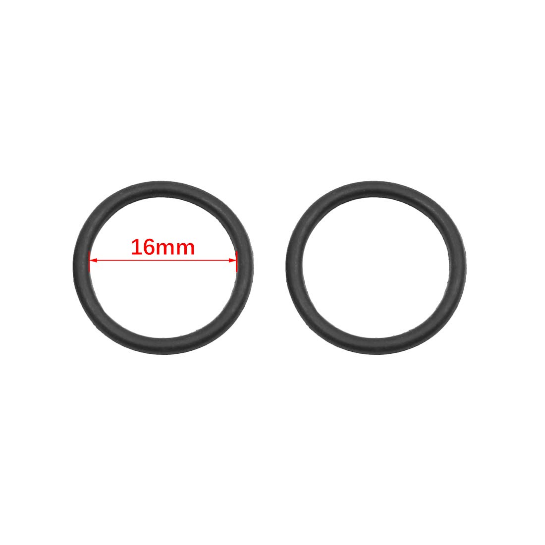 X AUTOHAUX Black NBR O-Ring Seal Gasket Washer for Automotive Car 16 x 1.8mm 100pcs