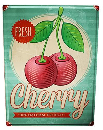 LEotiE SINCE 2004 Tin Sign XXL Food Restaurant Cherries