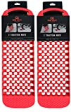 Quik Solve Tire Auto Traction Mats Car Off Road Roadside Winter Snow Safety 2PK