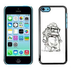 PC/Aluminum Funda Carcasa protectora para Apple Iphone 5C grumpy old man retired white black / JUSTGO PHONE PROTECTOR