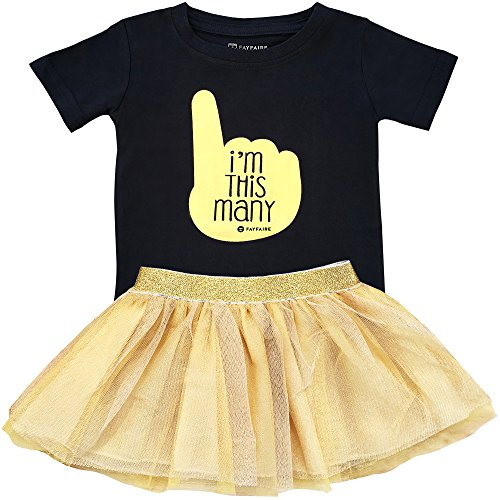 Fayfaire First Birthday Shirt Outfit: Boutique Quality 1st Bday I'm This Many 12M by Fayfaire (Image #1)