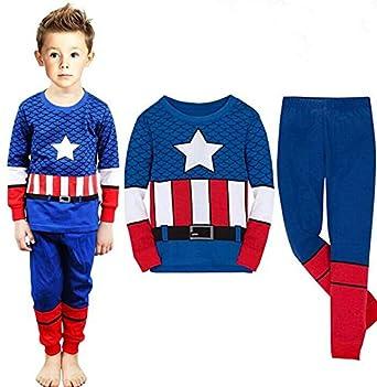 51223d810 كابتن اميريكا طقم ملابس نوم كرتون بابي بويز للاطفال - بيجامات للصيف