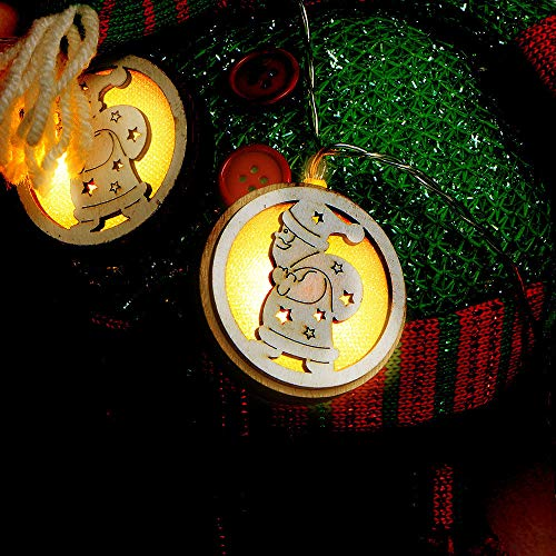 Christmas Best Decoration!!!Goldseller String Lights,Warm White Christmas Wooden