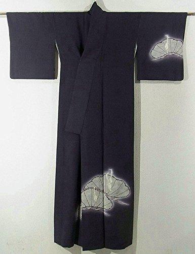 リサイクル 着物 訪問着 作家物 松に鶴 正絹 袷 裄65cm 身丈166cm