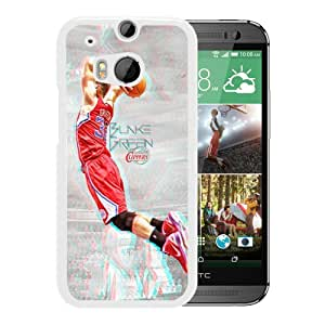 New Unique Custom Designed Case With LA Clippers Blake Griffin 2 White For HTC ONE M8 Phone Case