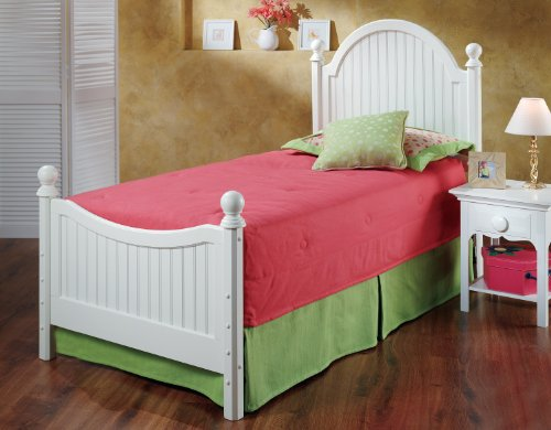 [Hillsdale Westfield White Twin Size Bed Set] (Hillsdale Bed Frame)