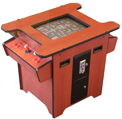 Arcade Mall Retro 80s Coin Op Cherry Wood Cocktail Table Game Machine LCD Display -