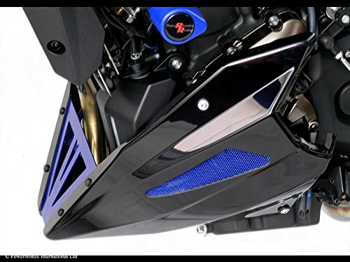 Powerbronze Rejilla inferior para Yamaha MT-07 de 2014 – 2015 y XSR700 de 2016, color carbón y azul color carbón y azul