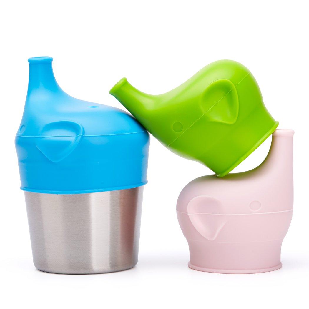 【在庫あり/即出荷可】 bbbiteme Baby Sippy Baby Cup Lids – Spill Proof Proof BPAフリー象赤ちゃんユニバーサルSipperシリコンToddlers Sippy Sippy LidsフィットAnyカップ3交換用シリコンLids and 1ステンレススチールカップ) B0778MQH31, 専門店 中江:5c3654be --- beyonddefeat.com