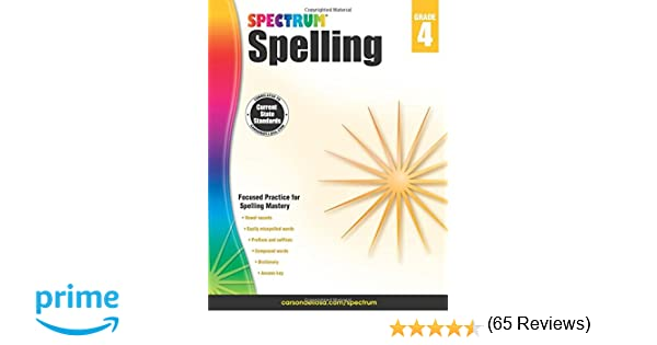 Spectrum Spelling, Grade 4: Spectrum: 0044222239732: Amazon.com: Books