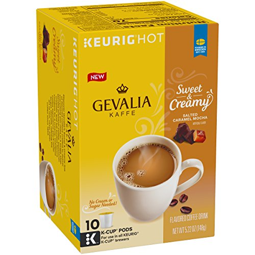 Salted Sweet Sugar - Gevalia Sweet & Creamy Salted Caramel Coffee, K-Cup Pods, 5.22 Ounce
