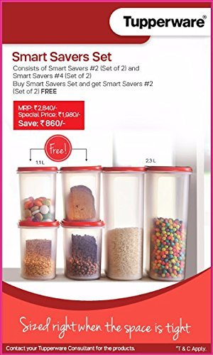bbef3b46b Buy Tupperware Smart Savers Set 1.1 L