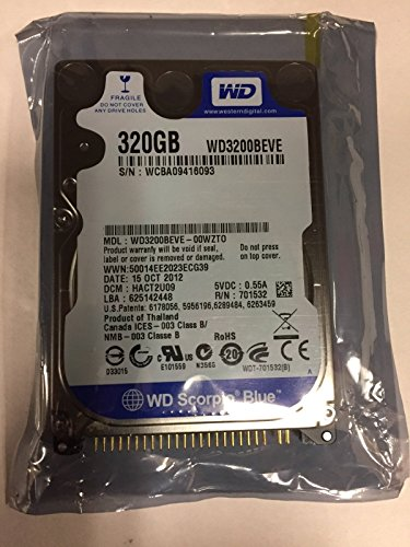 - Western Digital 320GB 5400RPM PATA IDE 8MB Internal 2.5 Notebook Hard Drive - WD3200BEVE