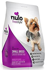Nulo Grain Free Small Breed Dry Dog Food with BC30 Probiotic (Salmon and Red Lentils Recipe, 11b Bag)