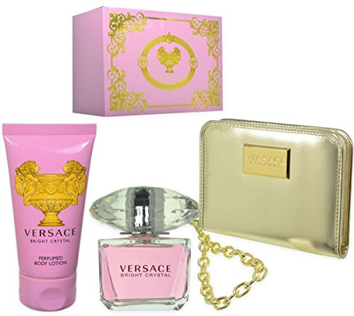 VERSACE 3 Piece Bright Crystal Eau De Toilette Set