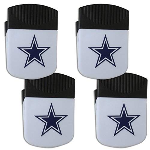 Dallas Magnets Cowboys (NFL Dallas Cowboys Chip Clip Magnet with Bottle Opener, 4 Pack)