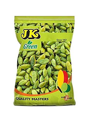 JK Indian Spices/Masala GREEN CARDAMOM PODS 8mm (Choti Elaichi/Hari Elaichi) - 100% Pure and Natural, GMO & Gluten Free, No Added Essence, Color or Preservatives (1.76 oz)