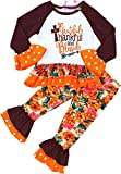 Boutique Clothing Girls Thanksgiving Thankful Grateful and Blessed Pant Set 18-24M/XS