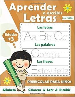 Aprender a escribir letras para NIÑOS: Perfecto para aprender a rastrear las letras mayúsculas y minúsculas-Ejercicios divertidos para aprender el alfabeto: Amazon.es: Lahbabi, SIMIONE: Libros en idiomas extranjeros