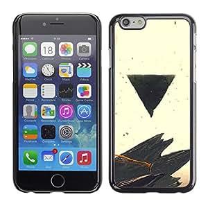 A-type Arte & diseño plástico duro Fundas Cover Cubre Hard Case Cover para iPhone 6 (Negro Triángulo)